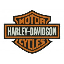 Patch Moto Harley Davidson Classic Logo Grande