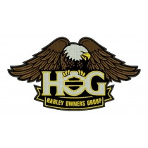 Patch Moto Harley HOG Grande