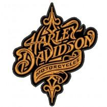 Patch Moto Harley Davidson Retro Grande