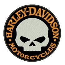 Patch Moto Harley Classic Skull