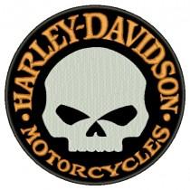 Patch Moto Harley Davidson Skull Grande