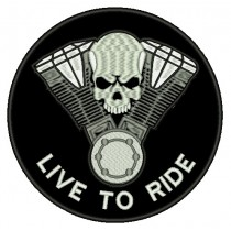 Patch Moto Live to Ride Grande