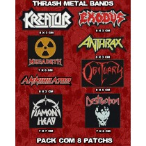Kit Patch Trash Metal 8 Unidades
