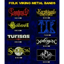 Kit Patch Folk Viking Metal 8 Unidades