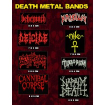 Kit Patch Death Metal 8 Unidades
