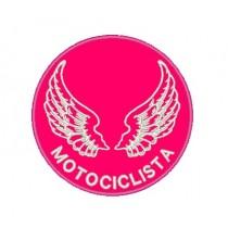 Patch Moto Tarja Motociclista Pink