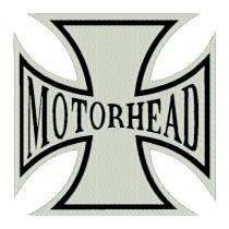 Patch Grande Motorhead - Cruz de Malta Branca