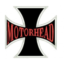 Patch Grande Motorhead - Cruz de Malta Vermelha