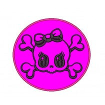 Patch Moto Skull Pink