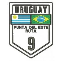 Patch Viagem Uruguay Punta Del Este - Ruta 9