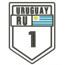 Patch Viagem Uruguay Ruta 1
