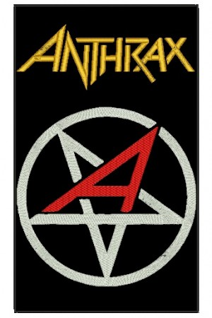 Patch Grande Anthrax Pentagrama