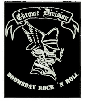 Patch Grande Chrome Division Doomsday Rock n Roll
