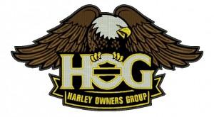 Patch Moto Harley HOG Grande