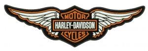 Patch Moto Harley Davidson Wings 20 cm