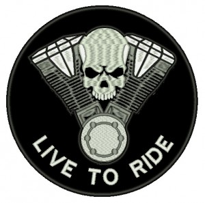 Patch Moto Live to Ride Grande